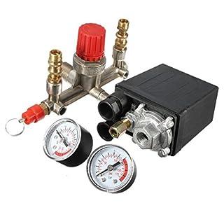 Luftkompressorpumpe Druckschalter Regelventil Manometer Regulator