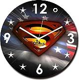2 O Clock Superman Printed Analog Wall Clock