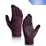 Damen Winter Handschuh Touchscreen - Fäustlinge Damen Fahrradhandschuhe Warme Rutschfest