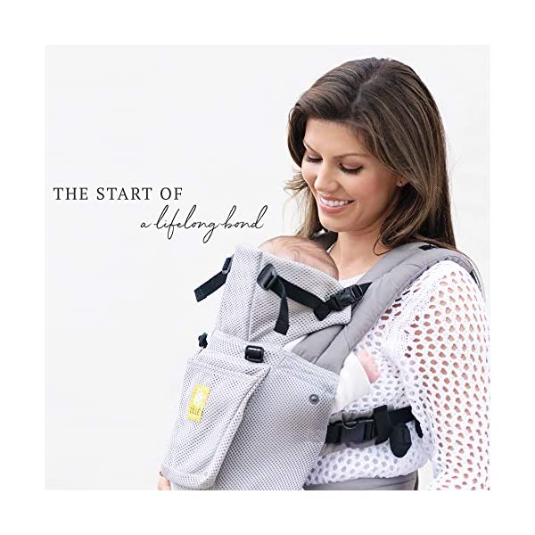 LÍLLÉbaby  Complete Airflow 6-in-1 Baby Carrier, Grey Mist Lillebaby Made from breathable mesh fabric to help keep parent and child cool and comfortable and with 6 carrying positions - Foetal, infant inward, outward, toddler inward, hip, back - The only carrier you'll ever need! Suitable from 3.2- 20kg (birth to approx. 4 years old), providing extended comfortable use for parent and child with no additional infant support required for new-borns - the ergonomic adjustable seat is acknowledged as 'hip-healthy' by the International Hip Dysplasia Institute Unique spacious head support with elasticated straps - soothes infants with gentle lulling motion and provides excellent support as children grow 5