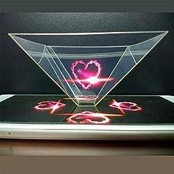 3D Hologramme Pyramide de projection d'écran pour téléphone portable Smartphone et Tablette