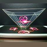 La description:100% nouveau! Haute qualitéCe produit est le projecteur pyramidal holographique le plus populaire. Juste besoin d'ouvrir la vidéo holographique et mettre le projecteur sur l'écran du téléphone. L'image holographique 3D apparaîtraRemarq...