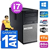 Dell PC 3010 MT i7-2600 RAM 8Go Disque Dur 1To HDMI Windows 10 WiFi (Reconditionné)