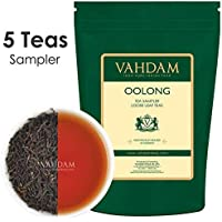 VAHDAM, muestra de hoja de té Oolong (5 TEAS, 50 gramos, 25 porciones) - 5 té suelto exclusivo de Oolong, té de pérdida de peso Oolong, té 100% natural de desintoxicación, muestra de té de la India