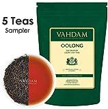 VAHDAM, Oolong Tea Leaves Sampler (5 TEAS, 25 porzioni) - 5 Esclusiva foglia di tè sfuso Oolong, tè Oolong per dimagrire, tè 100% naturale disintossicante, campionatore di tè, assortimento di tè e set regalo per il tè, 50g