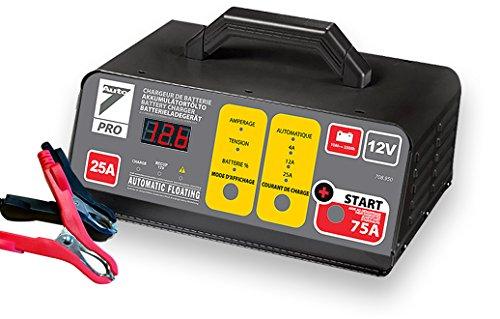 AUTO7 708950 Chargeur de Batterie 25 A, Gris, Noir