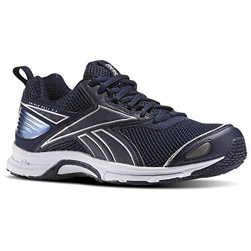 Reebok Mens Salão Triplo 5.0 Rodando Azuis Sapatos (colegiado Marinho / Branco Prata)