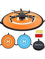 Drone Landing Pad, WisFox Universal Waterproof D 75cm/30'' Portable Foldable Landing Pads for RC Drones Helicopter, PVB Drones, DJI Mavic Pro Phantom 2/3/4 Pro, Antel Robotic, 3DR Solo