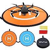 WisFox Landing Pad Drone Tapis D'atterrissage Pliable et étanche Diamètre 75cm pour DJI Mavic