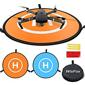 Drone Landing Pad, WisFox Universal Waterproof D 75cm / 30 '' Landing Pad pieghevole portatile per elicotteri RC Drone, Droni PVB, DJI Mavic Pro Phantom 2/3/4 Pro, Antel Robotic