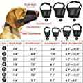 [7 PCS] Nylon Dog Muzzle, Adjustable Breathable Safety Pet Puppy Dog muzzles anti-biting Anti-barking Anti-chewing Safety Protection, suitable for Small Medium Large Dog, Easy to Use(Black) by PROZADA