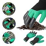 1 Paar sichere schnelle und leicht zu grabende Handschuhe mit 4 ABS-Kunststoff-Krallen-Handwerkzeug-Set Rosen-Handschuhe