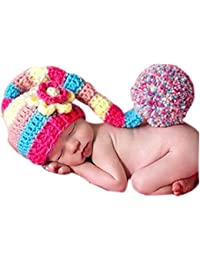 BINLUNNU - Gorro de ganchillo para bebé 9c99eb76eb1
