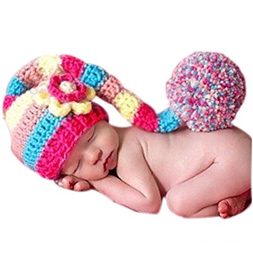 binlunnu recién nacido fotografía Props Boy Girl Crochet Costume Outfits  Sombrero de Cute Headdress f15acdf0dcb