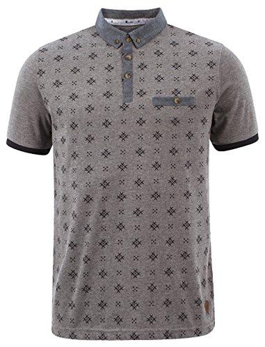 Mens Polo Shirt T-shirt Top Graphic Pattern Short Sleeve Summer D Code CLASS Grey
