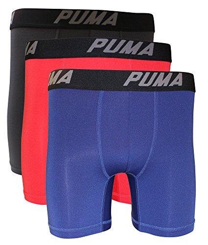 Puma Homme Boxer Slip Volume (Lot de 3) rouge vif