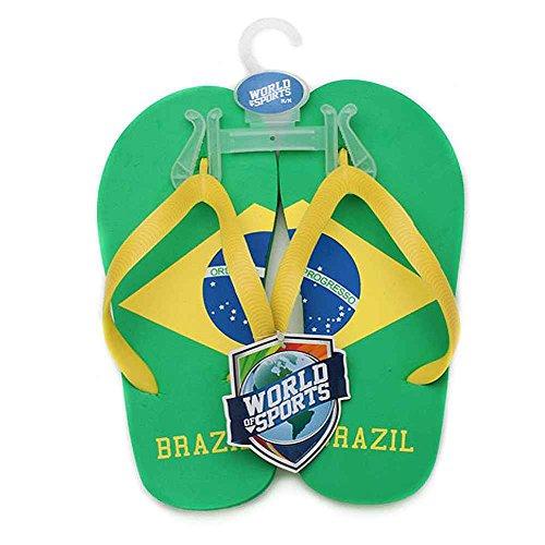 World of Sports Flip-Flops - Brazil - X-Small