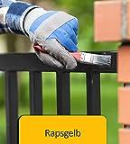 BEKATEQ BE-900 Metallschutzlack seidenmatt Rostschutz Rostschutzfarbe Korrosionsschutz Metall Farbe Schutz (1L, GELB)