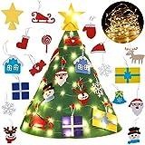 Bageek Weihnachtsbaum DIY, DIY Weihnachtsbaum Dekoration Abnehmbare Weihnachtsbaum Weihnachten Geschenk für Kinder Kinder Dekorationen Wand Hänge Weihnachten Kit