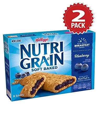 Nutri-grain Cereal Bars (Kellogg's Nutri-Grain Blueberry Cereal Bars - 2er Pack (2x295g))