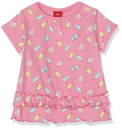 s.Oliver Baby-Mädchen 59.906.32.5744 T-Shirt, Rosa (Pink AOP 44a1), (Herstellergröße: 68) -