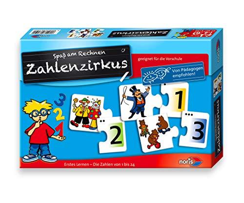 Noris 606076150 - Zahlenzirkus, Puzzles, Kinderspiel