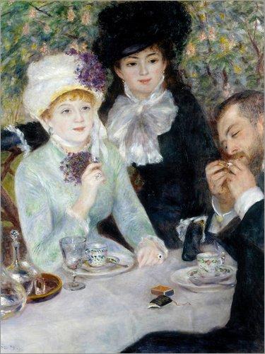 Poster 100 x 130 cm: Nach dem Essen von Pierre-Auguste Renoir - Hochwertiger Kunstdruck, Kunstposter