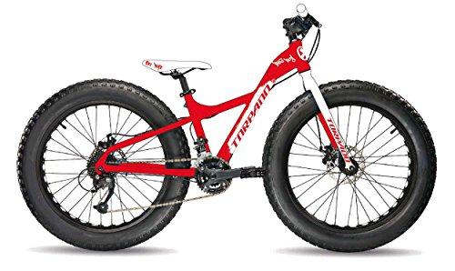 Torpado bici fat bike big boy 24'' acciaio 7v rosso bianco (Fat) / bicycle fat bike big boy 24'' steel 7v red white (Fat)