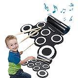 Wasanstore Roll Up E-Drum Pad Tragbares Kit mit Lautsprecher Entertainment-Kind-Geschenk Tag der Kinder Weihnachtsgeschenk Elektronische Trommel