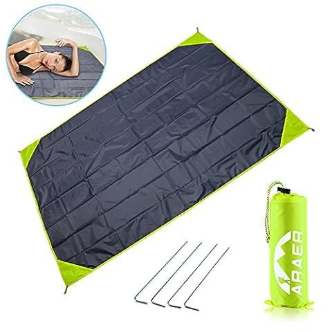 Picnic Blanket , Utral Light Sandproof Beach Mat Waterproof Backing Protable Beach Blanket for Picnic , Beach , Hiking ,