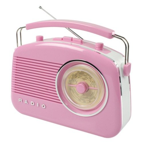 König HAV-TR710PI Retro-Design AM/FM-Radio pink