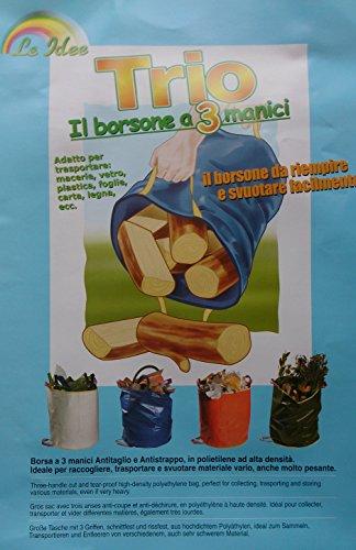 Sac à déchets 3 poignées 45 x 50 cm polyéthylène haute densité