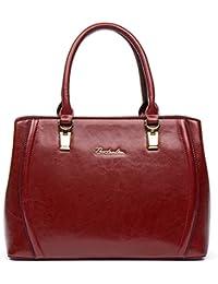 BOSTANTEN Damen Leder Schultertasche Shopper Handtasche Top Griff Umhängetasche Tote Bag