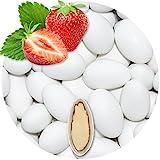 EinsSein 500g Hochzeitsmandeln Gastgeschenke Erdbeere weiß Schokomandeln griechisch Hochzeit Zuckermandeln Schokomandeln Bonboniere Bonbons Schokotafeln ohne organzasäckchen Dragees Taufmandeln