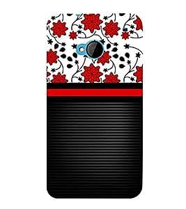 Lovely Flowers Girl Design 3D Hard Polycarbonate Designer Back Case Cover for HTC One M7 :: HTC M7