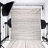 Mohoo Hintergrund Silk Wand Holzboden Fotografie Retro Foto Props Studio Hintergrund 2.1x1.5m (Neu Material)