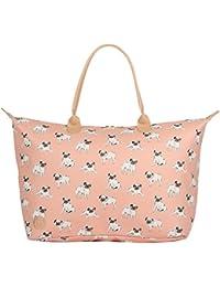 Mi-Pac Weekender Bag Sac de voyage, 55 cm, 35 litres, Rose(Pugs Peach)