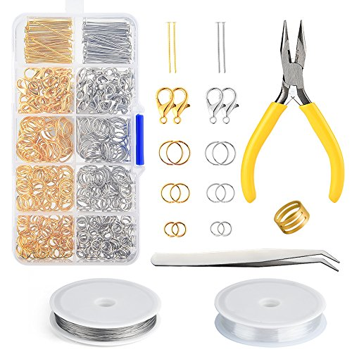 Combination Suit Jump Ring Lobster Clasp Tail Chain Pliers Tweezers Diy Jewelry Findings Making Box With Jewelry Tool Beads Kit Clear And Distinctive Jewelry Findings & Components Beads & Jewelry Making