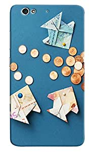 Omnam Planes Made Of Currency And Coins Printed Designer Back Case For Gionee S6