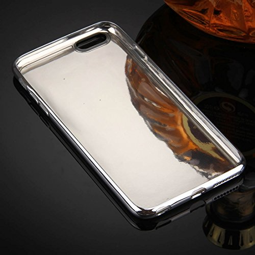 Wkae Case & Cover Pour iPhone 6 &6s Housse de protection Electroplating Mirror TPU ( Color : Rose Gold ) Silver