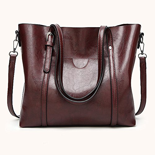 Flada, Borsa tote donna Rosa Pink medium Coffee