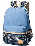 Leaper lässig leichtes canvas Laptop Tasche Umhängetasche Schule Rucksack (Lichtblau)