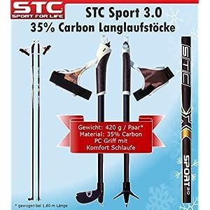 STC 35% Carbon Langlauf Stöcke Sport 165cm