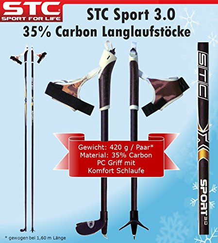 STC 35{986f7480351441b984858b9596505ab92907ea3207d27dd55df24dcbf4b86a32} Carbon Langlauf Stöcke Sport 160 cm