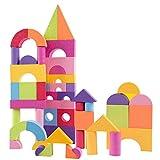 Ultra-light EVA Weichschaum Block 50 stücke Ultra-light Bausteine Set Bunte Kinder Kinder Weiche Pädagogische Spielzeug Geschenk