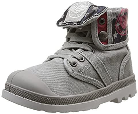 Palladium Baggy Flag, Sneakers Hautes mixte enfant, Gris (059 Grey), 31 EU