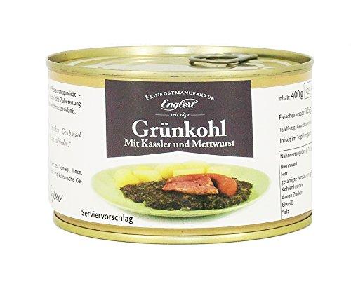 ENGLERT Grünkohl mit Kassler und Mettwurst/Dose, 2er Pack (2 x 400 g)