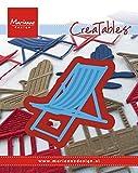 Marianne Design LR0423 Creatables Liegestuhl - Stanzschablone und Prägeschablone für die Kartengestaltung/Scrapbooking, Metal, blau, 5.5 x 5.5 x 0.4 cm