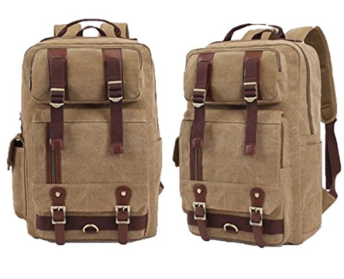 super-bab bakcpack Canvas Fashion Schule College Laptop Segeltuch Wandern Tasche aprikose