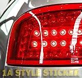 Unbekannt ROTE Folie Rückleuchten Auto Scheinwerfer Folierung ROT KFZ Rücklichter